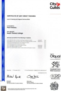 Certificate Of Unit 1